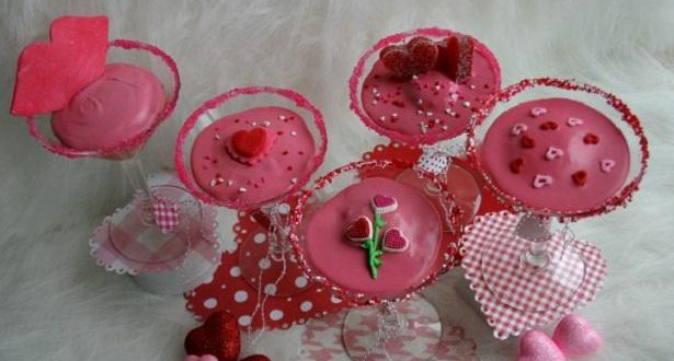Valentines Cocktail Cupcakes