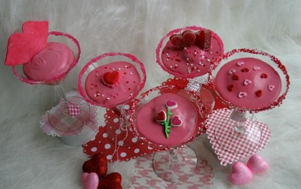 Valentines Cocktail Cupcakes