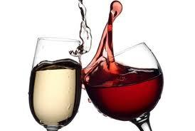 red & white wine