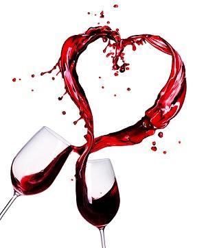Love red wine glass